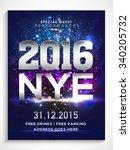 shiny flyer  banner or pamphlet ... | Shutterstock .eps vector #340205732