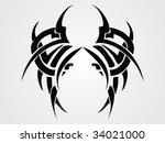 creative tattoo design | Shutterstock .eps vector #34021000