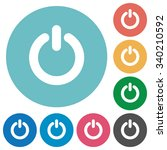 flat power off icon set on... | Shutterstock .eps vector #340210592