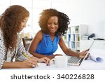 business lady taking notes when ... | Shutterstock . vector #340226828