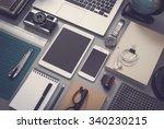 vintage style responsive mockup | Shutterstock . vector #340230215
