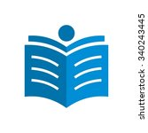 book icon  people read book... | Shutterstock .eps vector #340243445