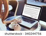 terms and conditions  website... | Shutterstock . vector #340244756