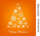 vector christmas tree made from ... | Shutterstock .eps vector #340247006