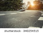busy asphalt road in modern... | Shutterstock . vector #340254515