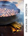 organic brown chestnuts... | Shutterstock . vector #340261766