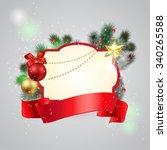christmas frame background   Shutterstock .eps vector #340265588
