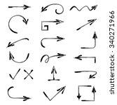 vector hand drawn arrows set | Shutterstock .eps vector #340271966