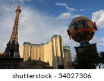 Stock photo las vegas nevada replica of eiffel tower at the paris hotel 34027306