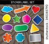 peeling sticker set. more... | Shutterstock .eps vector #340283792