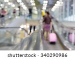 concept people on escalator at... | Shutterstock . vector #340290986