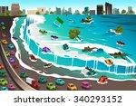 a vector illustration of giant... | Shutterstock .eps vector #340293152