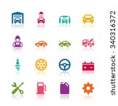 car service icons | Shutterstock .eps vector #340316372