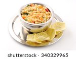 south indian food sambar rice... | Shutterstock . vector #340329965