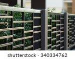 Black Steel Fence Of...