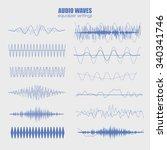 set audio equalizer technology  ... | Shutterstock .eps vector #340341746