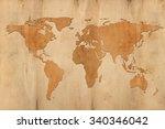 world map on wooden background | Shutterstock . vector #340346042