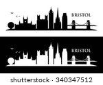 bristol skyline   vector... | Shutterstock .eps vector #340347512