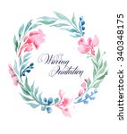 wedding invitation card with... | Shutterstock . vector #340348175