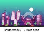 website hero image in flat... | Shutterstock .eps vector #340355255