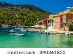 assos town  kefalonia island ... | Shutterstock . vector #340361822