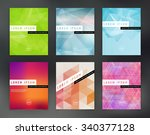 vector flyer design templates... | Shutterstock .eps vector #340377128