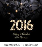 happy new year 2016 card  sniny ... | Shutterstock .eps vector #340384832