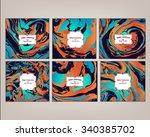 vector set ink texture... | Shutterstock .eps vector #340385702