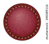 denim label. red | Shutterstock . vector #340389116