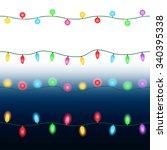 christmas lights. seamless... | Shutterstock .eps vector #340395338