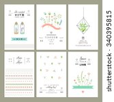 hand drawn collection of... | Shutterstock .eps vector #340395815