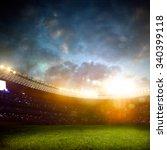 evening stadium arena soccer... | Shutterstock . vector #340399118