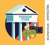 cool vector pension fund... | Shutterstock .eps vector #340402586