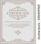 certificate template  | Shutterstock .eps vector #340404965