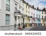 colorful london houses in... | Shutterstock . vector #340410452