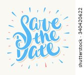 save the date. | Shutterstock .eps vector #340420622