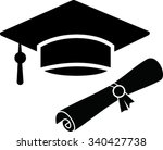 vector  academic hat  and... | Shutterstock .eps vector #340427738