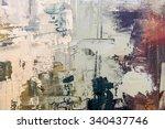 Grunge Oil Painting.  Oil...