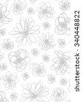 vector pattern of modern carpet | Shutterstock .eps vector #340448822