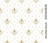 pattern with royal lily.... | Shutterstock .eps vector #340460858