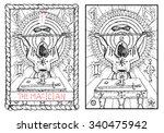 the magician. the major arcana... | Shutterstock .eps vector #340475942