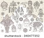 Big Set With Elements Of India...