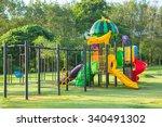 children playground park in the ... | Shutterstock . vector #340491302