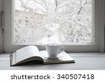 cozy winter still life  cup of... | Shutterstock . vector #340507418