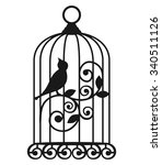the birdcages. vector.   Shutterstock .eps vector #340511126