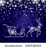 christmas deer  from snowflakes ... | Shutterstock .eps vector #340538342