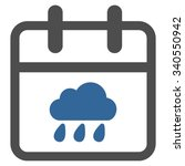 rainy date vector icon. style... | Shutterstock .eps vector #340550942