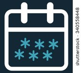 winter day vector icon. style... | Shutterstock .eps vector #340558448