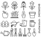 gardening icons set.vector | Shutterstock .eps vector #340560248