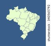 map of brazil | Shutterstock .eps vector #340565792